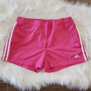 B2G1 Adidas Athletic Pink/White Track Shorts